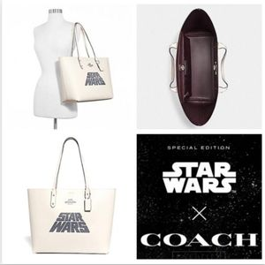 Coach Star Wars Town Tote With Glitter Motif New!